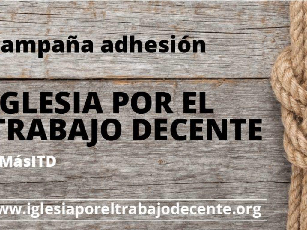 Inicio de la campaña de adhesiones a la iniciativa Iglesia por el Trabajo Decente