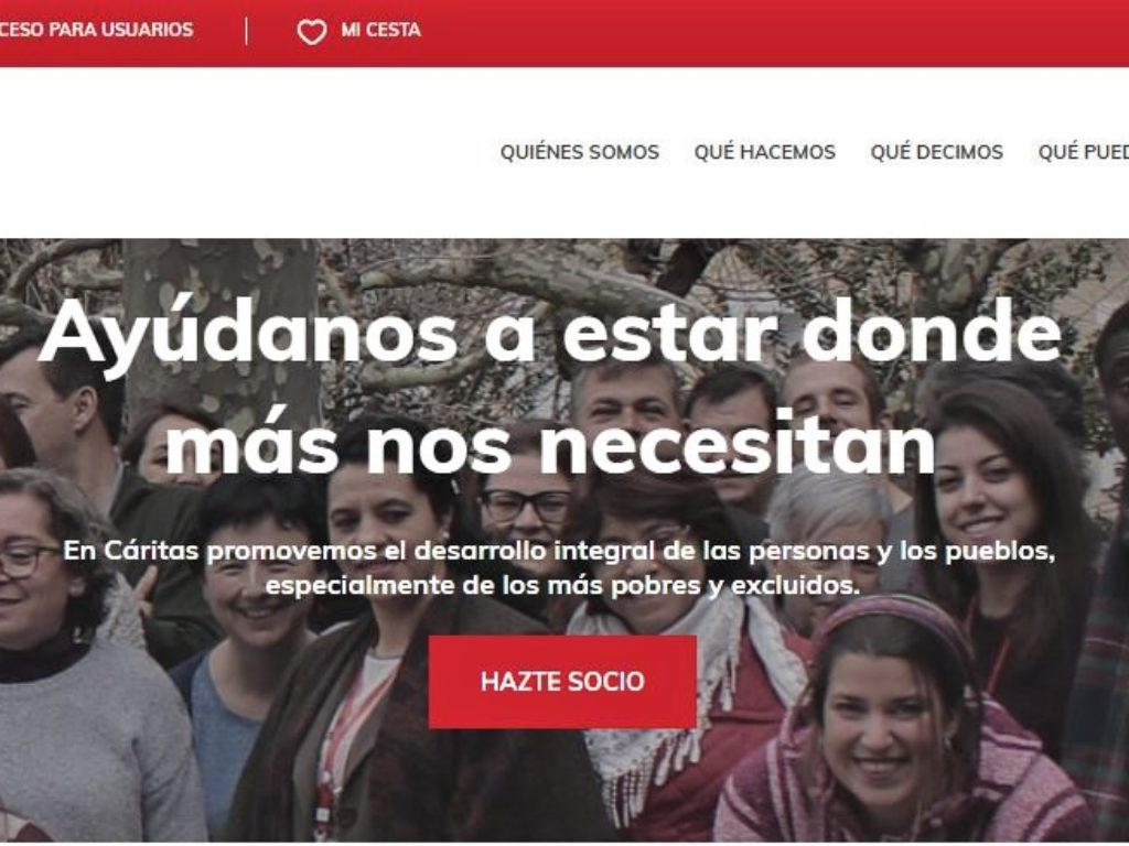 Cáritas Española renueva su página web