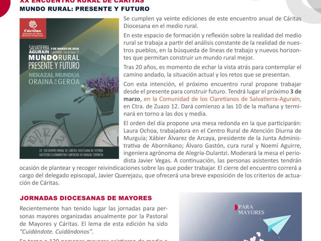 Boletín Cáritas Informa nº 58. Febrero y marzo de 2018