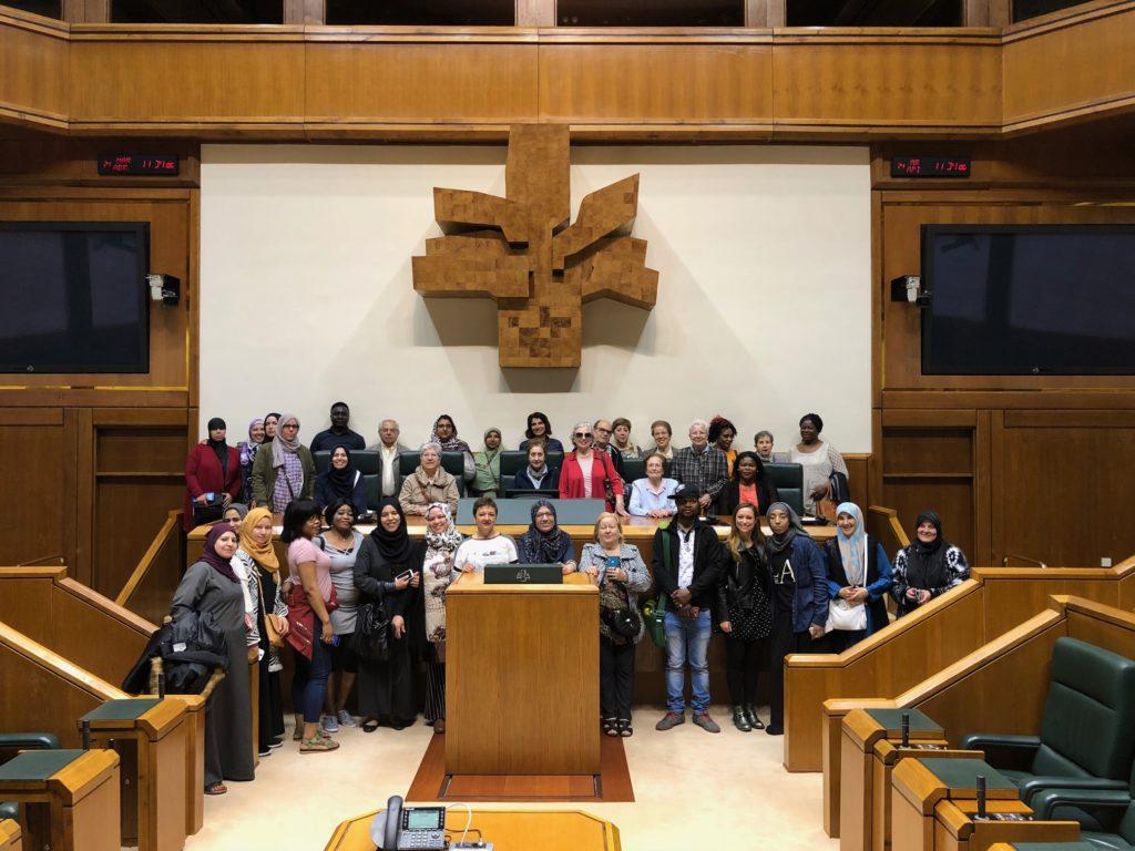 Visita al Parlamento Vasco del alumnado de los talleres de Los Dolores