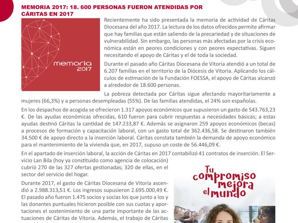 Boletín Cáritas Informa nº 60. Junio y julio de 2018