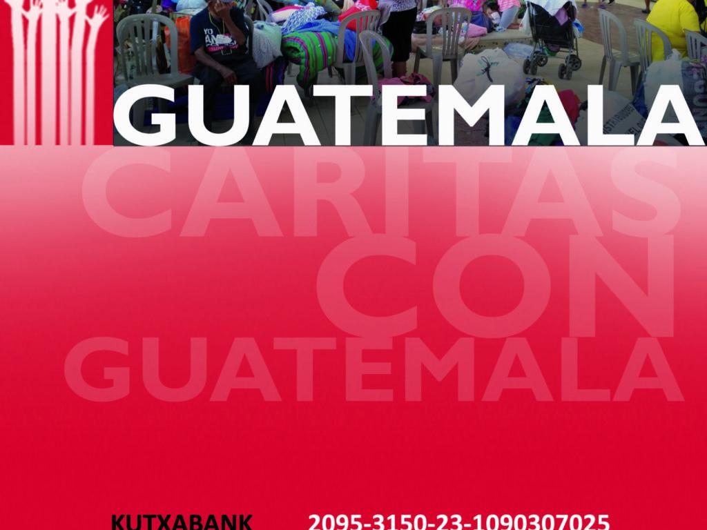 Cáritas con las víctimas del volcán de Fuego en Guatemala