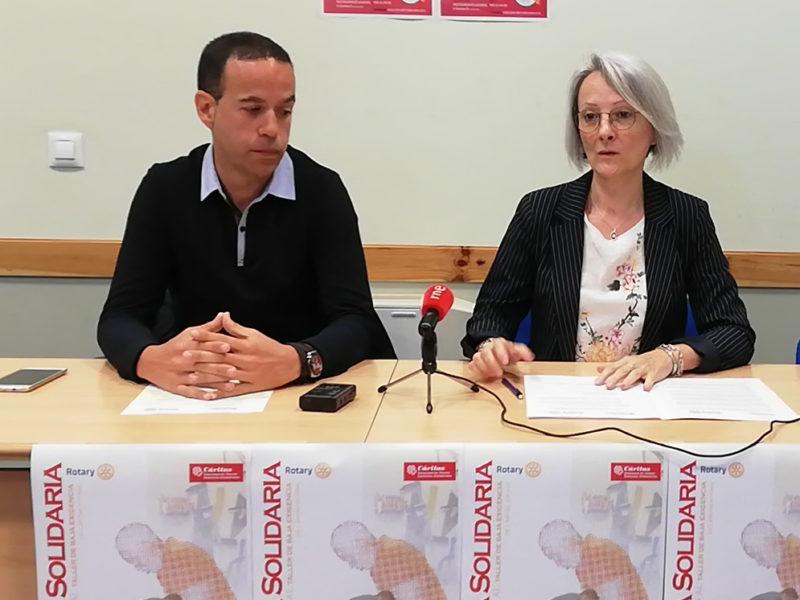 El Club Rotary organiza una cena solidaria para apoyar el proyecto de un taller de  baja exigencia de Cáritas