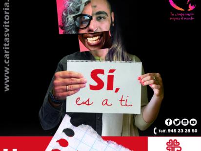 Cáritas lanza una campaña para sumar personas voluntarias a su labor