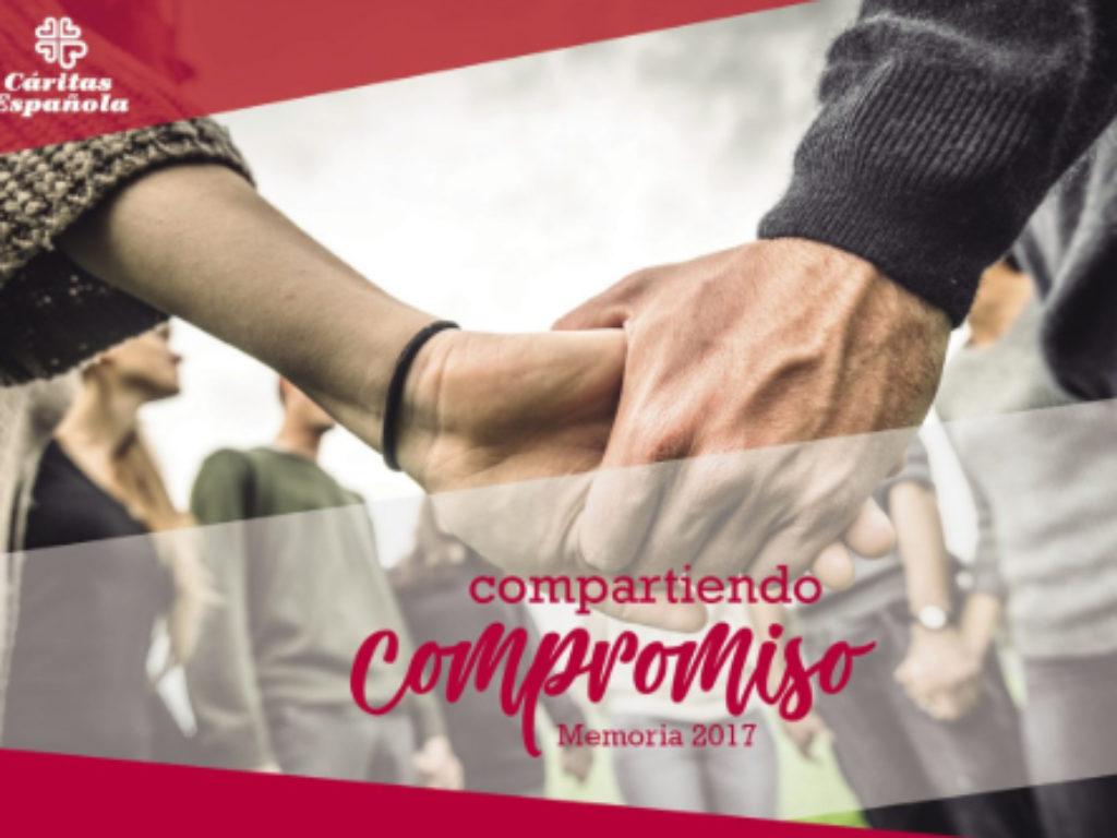 La Memoria 2017 de Cáritas, relato del viaje compartido de 84.000 voluntarios con 3 millones de personas vulnerables