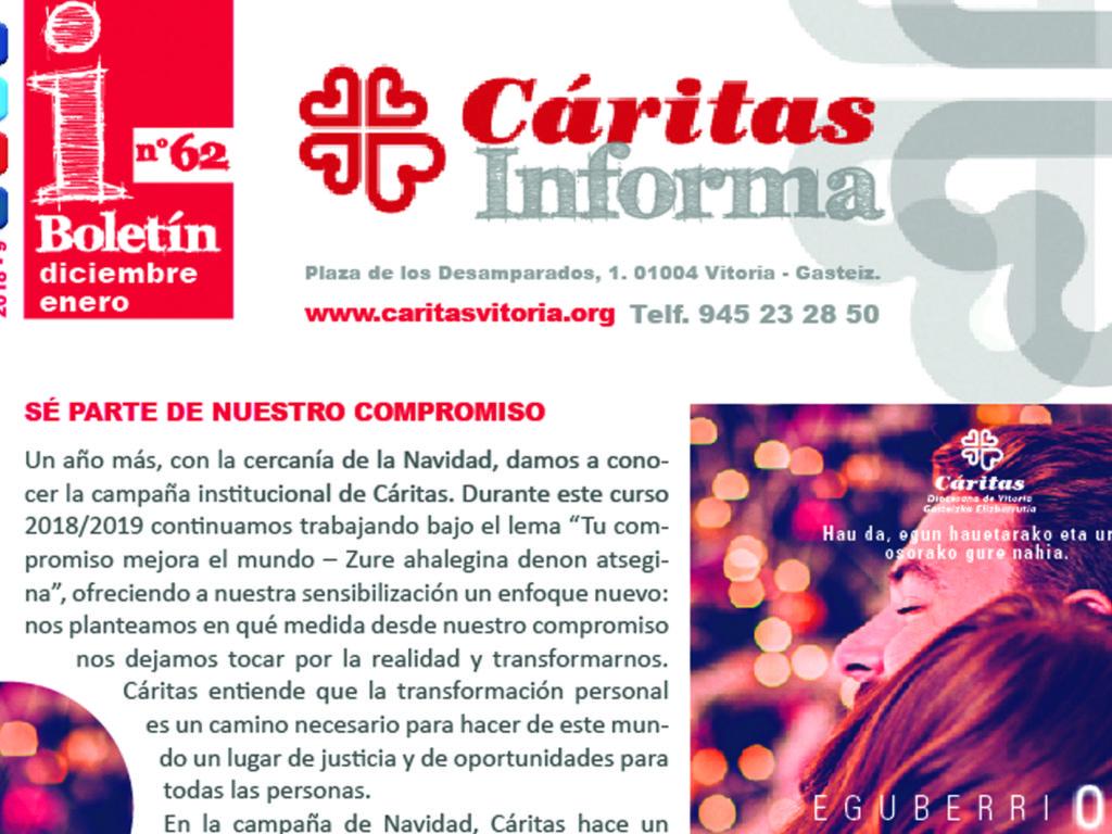 Boletín Cáritas Informa nº62. Diciembre 2018 y enero 2019