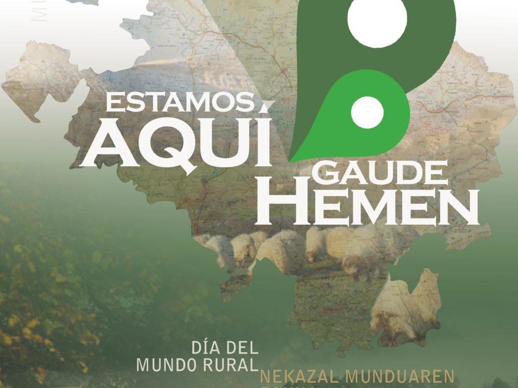 """""""Estamos aquí / Hemen Gaude"""": el medio rural alavés reclama su espacio en las propuestas electorales con motivo del Día del Mundo Rural"""
