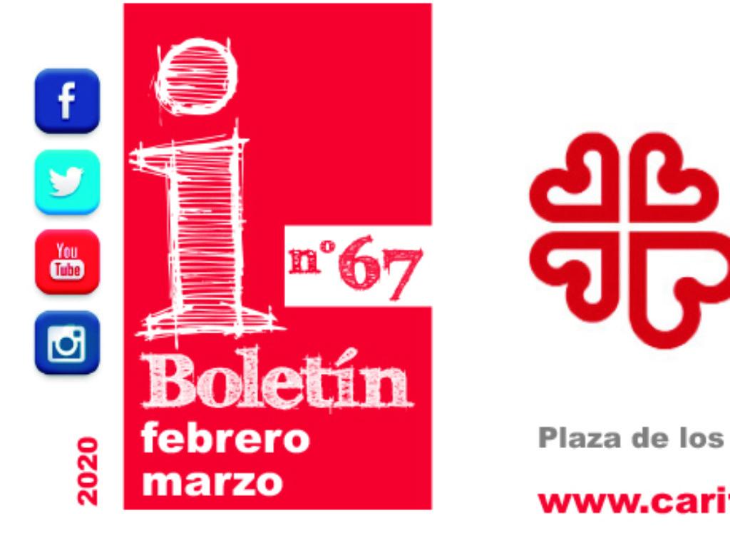 """Boletín """"Cáritas Informa"""", nº 67. Febrero y marzo de 2020."""