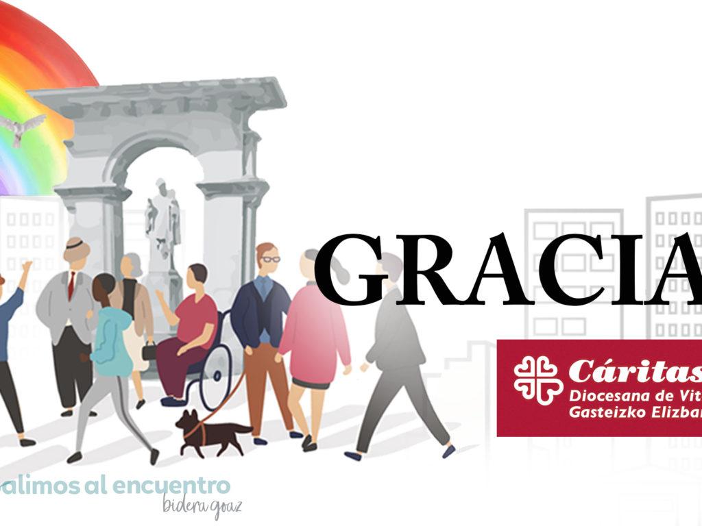 Cáritas Diocesana de Vitoria, felicita la fiesta de San Prudencio y agradece la solidaridad que está recibiendo.