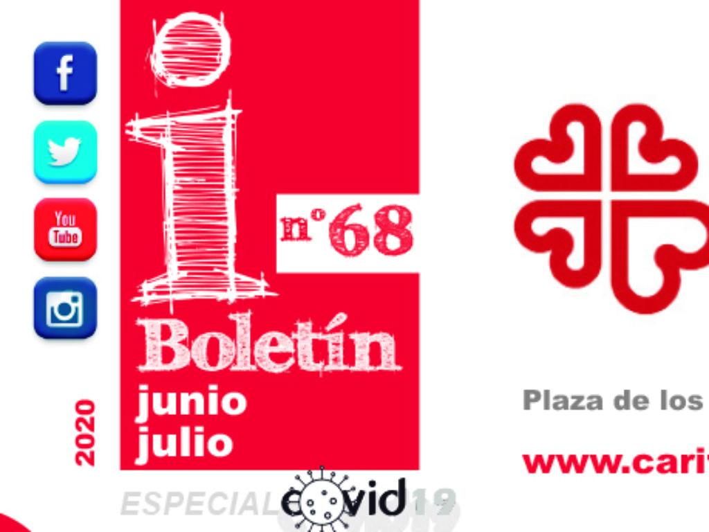 """Boletín """"Cáritas Informa"""", nº 68. Junio y julio de 2020."""