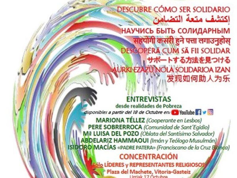 """""""Descubre cómo ser solidario"""", lema de la Jornada Interreligiosa contra la Pobreza"""