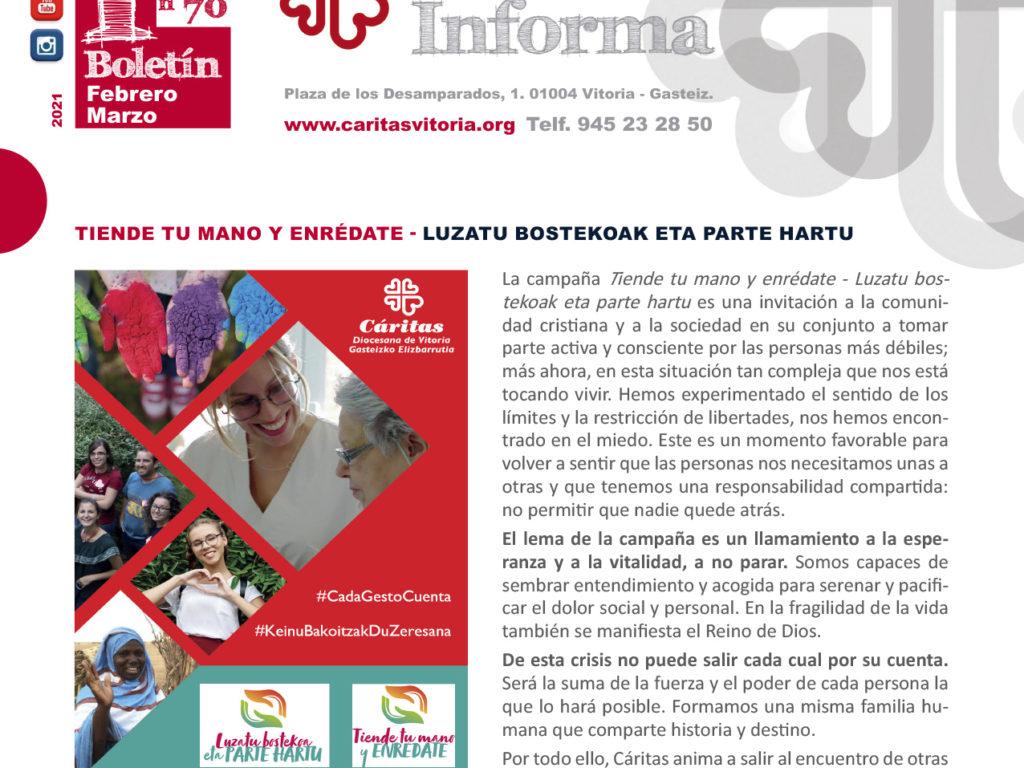 Boletín Cáritas Informa, nº 70 – Febrero y marzo de 2021