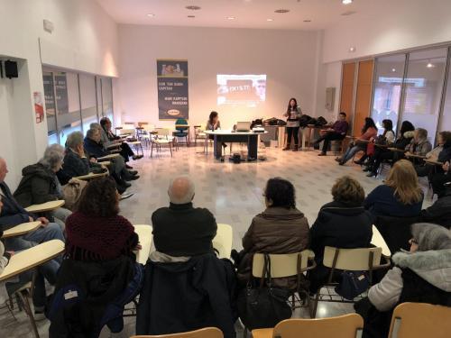 Encuentro de zona Lakua_Sansomendi sobre personas refugiadas. Febrero de 2018.